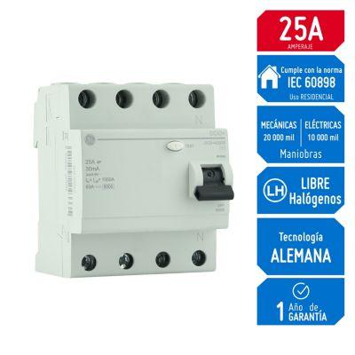 Interruptor Diferencial 4Px25A