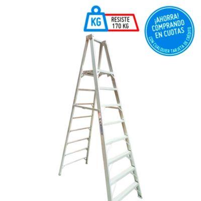 Escalera Tijera Duraluminio 8 Pasos Profesional con plataforma