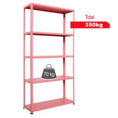 Estante de metal 30x90x175cm Rosa