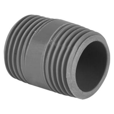 Niple PVC con Rosca 1/2''x 1''