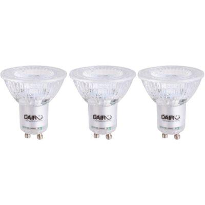 Pack x3 Focos LED Dicroicos 4.3W Gu10 Luz Amarilla