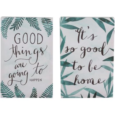 Set 2 canvas Frases hojas 20x30 cm