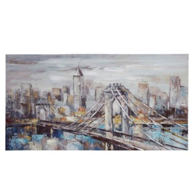 Canvas Blue Bridge 60x120 cm