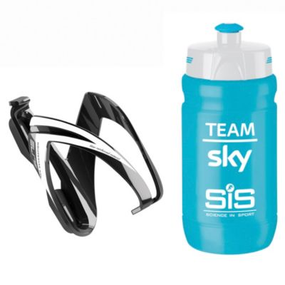 Porta Botella Y Botella Elite Kit Ceo Sky celeste