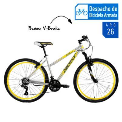 Bicicleta de Mujer Aida Aro 26'' Gris/Amarillo