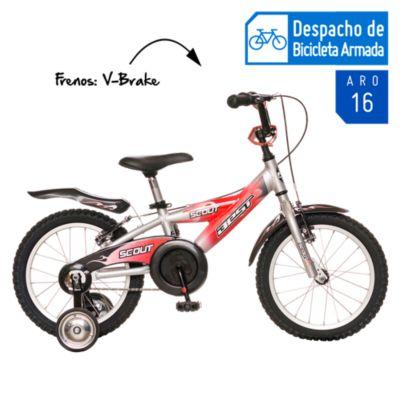 Bicicleta Scout rojo Aro 16''