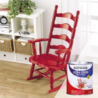 Esmalte al Agua Ultra Cover Rojo Manzana Brillante 0,946L