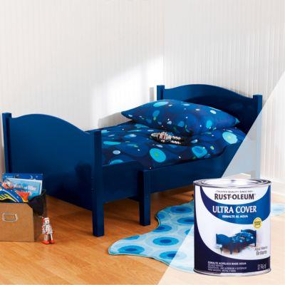 Esmalte al Agua Ultra Cover Azul Marino Brillante 0,946L