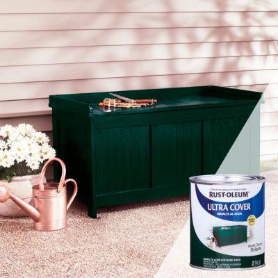 Esmalte al Agua Ultra Cover Verde Oscuro Brillante 0,946L