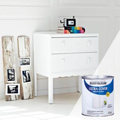 Esmalte al Agua Ultra Cover Blanco Brillante 0,946 L