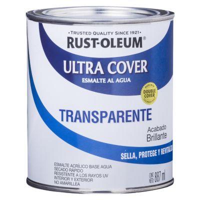 Esmalte al Agua Ultra Cover Transparente Brillante 0,887L