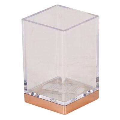 Vaso Clarity Gold 10x7cm Transparente