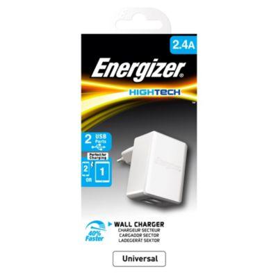 Enchufe Universal USB 2.4A Blanco