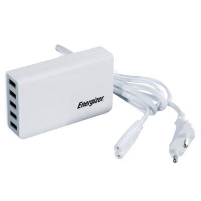 Estación 5 Puertos USB Blanco