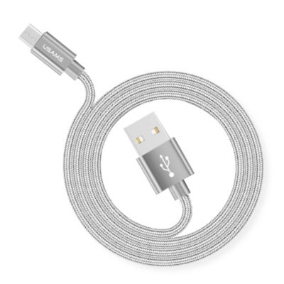 Cable USB Tejido Micro 1m Plateado
