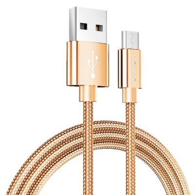 Cable USB Tejido Micro 1m Dorado