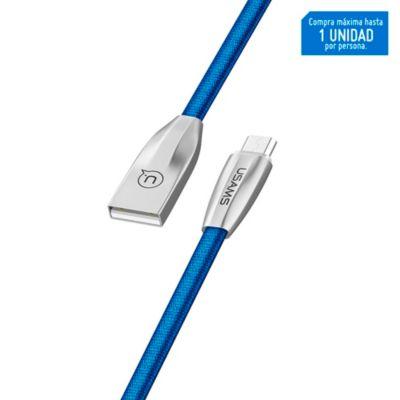 Cable Micro U-Light Tejido 1.2m Azul