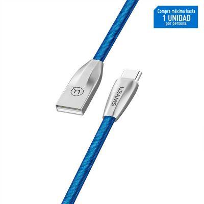 Cable Tipo-C U-Light Tejido 1.2m Azul