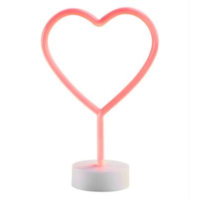 Lámpara de Mesa Led Neón Corazón