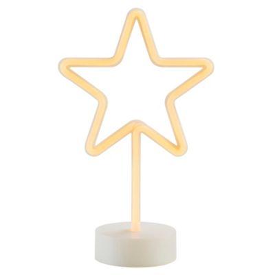 Lámpara de Mesa Led Neón Estrella