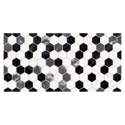 Cerámica Exagon Blanco Liso 30x60cm para piso o pared