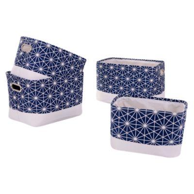 Set Canastos Estrella Azules x3 Unidades