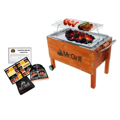 Caja China Mediana Premium Junior Acero Galvanizado + Parrilla Varillas