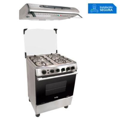 Combo Cocina de Pie COSOL027 + Campana Extractora TURE46CO