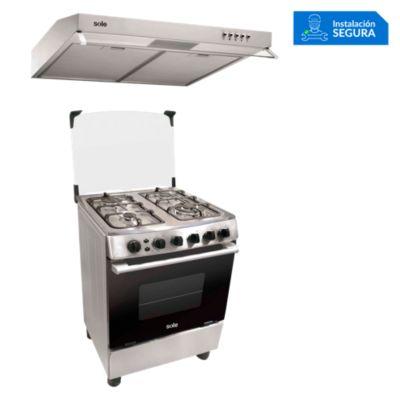 Combo Cocina de Pie COSOL027 + Campana Extractora TURE15CO