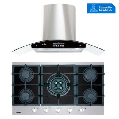 Combo Cocina a Gas SOLCO039 + Campana Extractora TURE63CO
