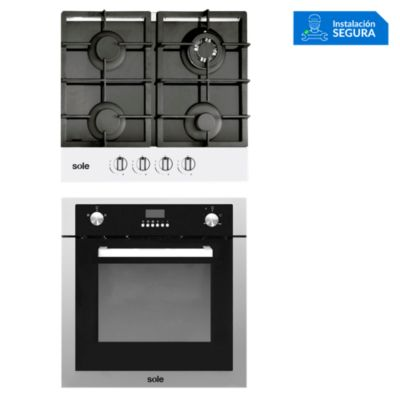 Combo Cocina a Gas SOLCO028 + Horno a Gas SOLHO007