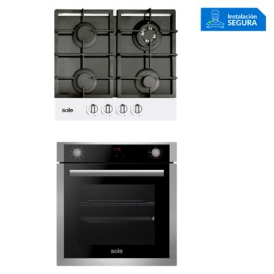 Combo Cocina a Gas SOLCO028 + Horno Eléctrico SOLHO012