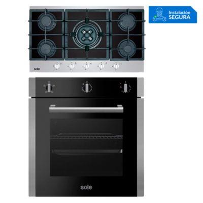 Combo Cocina a Gas SOLCO039 + Horno Eléctrico SOLHO010