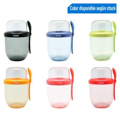 Vaso para Yogurt con Cucharita 450ml