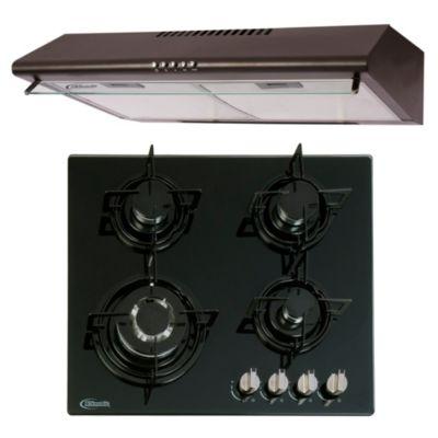 Combo Cocina Empotrable Durabile + Campana Extractora CK601NE