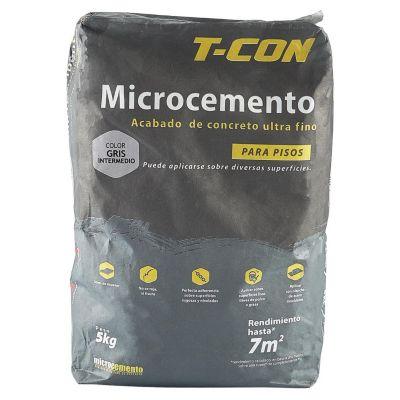 Microcemento Piso Gris Intermedio 5kg