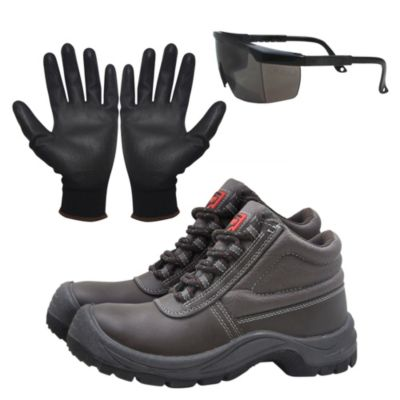Kit de Seguridad: Zapatos de Seguridad T39 + Lentes + Guantes