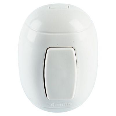 Interruptor Simple Oval Blanco