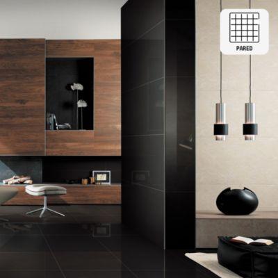 Porcelanato Súper Negro Liso 60x120 cm para pared