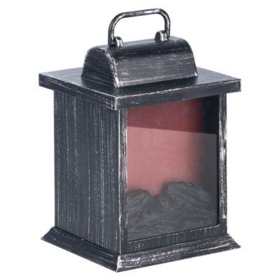 Linterna Fuego y Carbón Led Negra