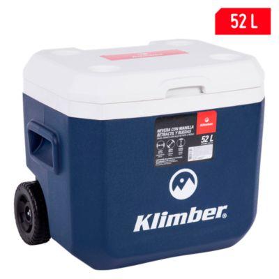 Cooler 52L  Azul con Ruedas