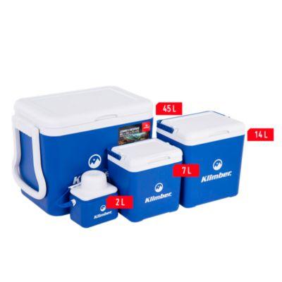 Combo cooler 4 piezas  45L, 14L, 7L y 2L Azul