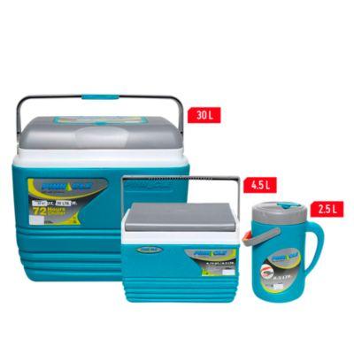 Combo Cooler 3 piezas 30L + 4.5L + Jarro 2.5L Azul