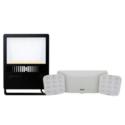 Combo Reflector LED Asimétrico 150W Luz Fría + Lámpara de Emergencia 23 cm
