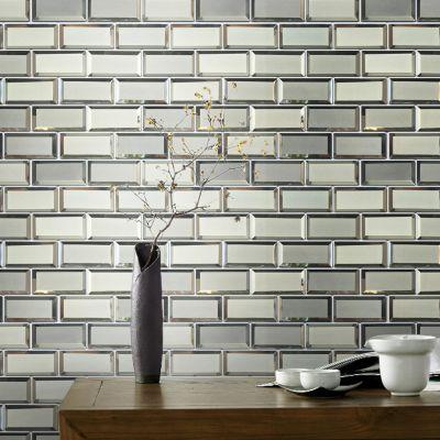 Malla vidrio brick 30 x 30 cm Espejado
