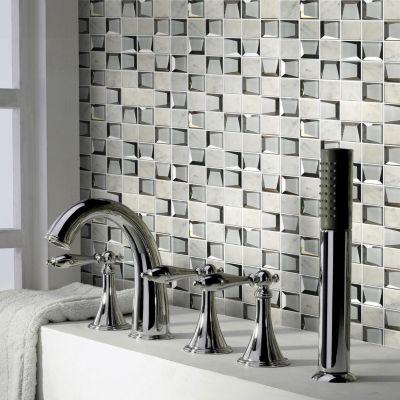 Malla vidrio sq 30 x 30 cm Espejado