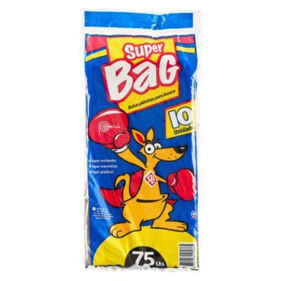 Bolsa para basura 75 L pack x 10