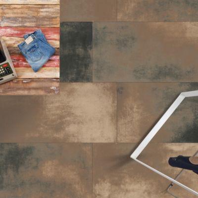 Porcelanato Smoke Laappato Marrón Marmolizado 60x120 cm para piso o pared