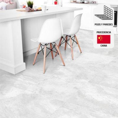 Porcelanato Bari Gris Marmolizado 60x60 cm para piso o pared