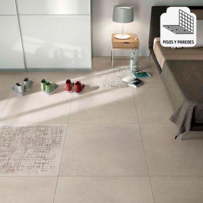 Porcelanato Textil Beige Rústico 60x60 cm para piso o pared